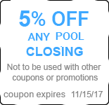 5% OFF ANY POOL CLOSING