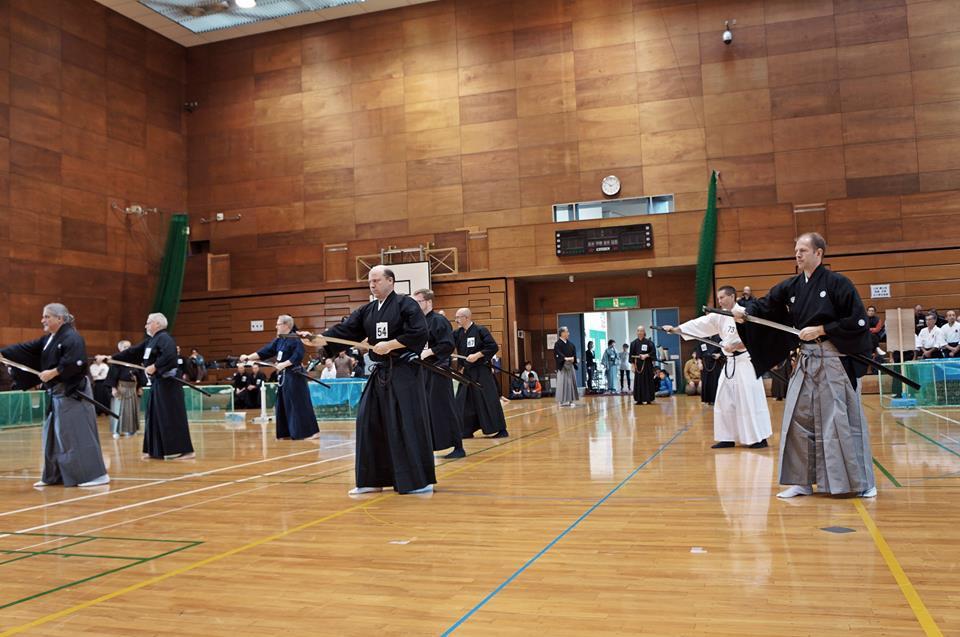 Toyama Ryu embu - participants from Australia, UK, D.C., South Africa, California and Kenshinkan Dojo.