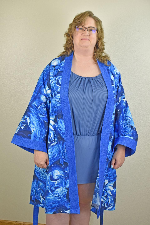 Custom Kimono Blue Dragons