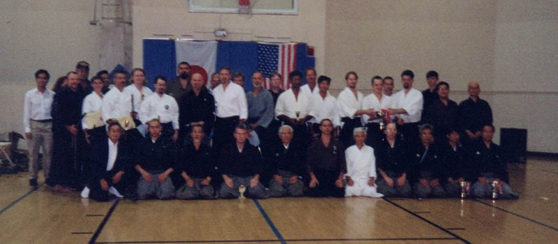IBF Taikai - San Diego 2001. Taikai hosts, Kakuseikai visitors, and participants.