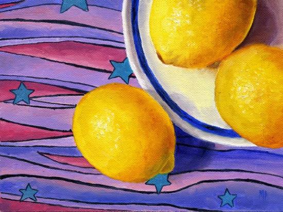 "Stars & Stripes ~ 6"" x 8""  Oil on Canvas Panel"