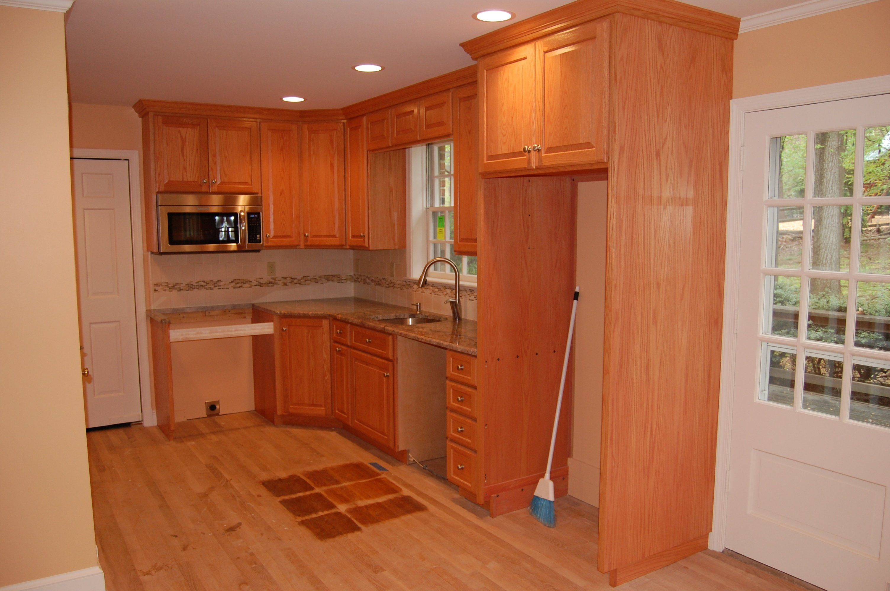 kitchen remodel during A