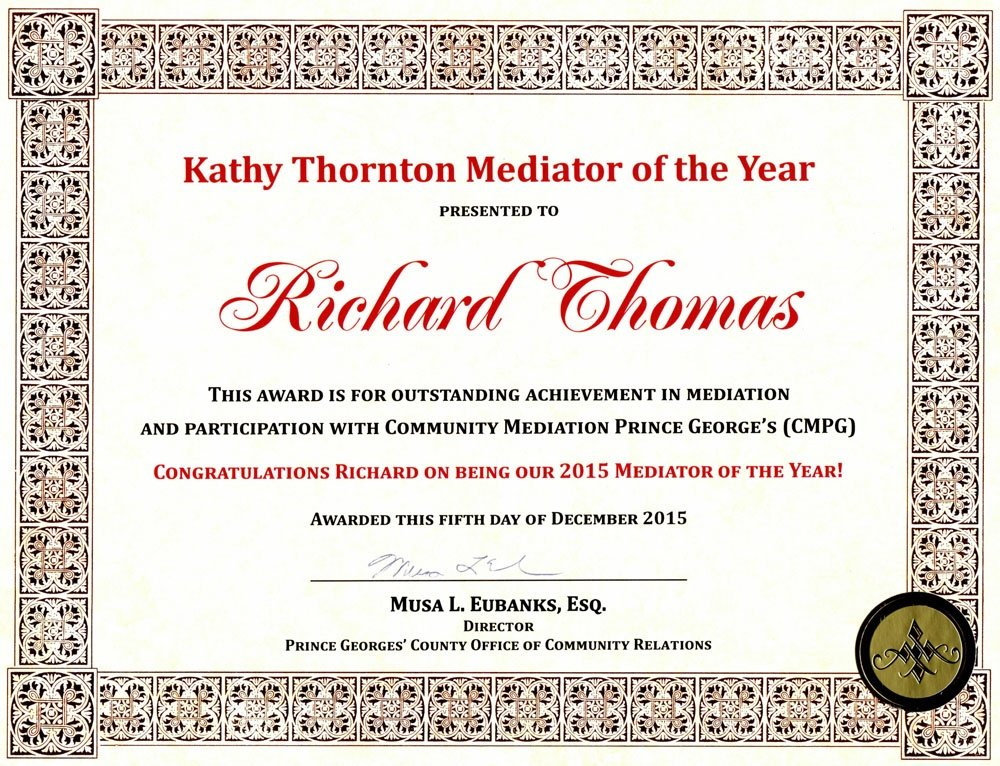 Mediator of the Year Award