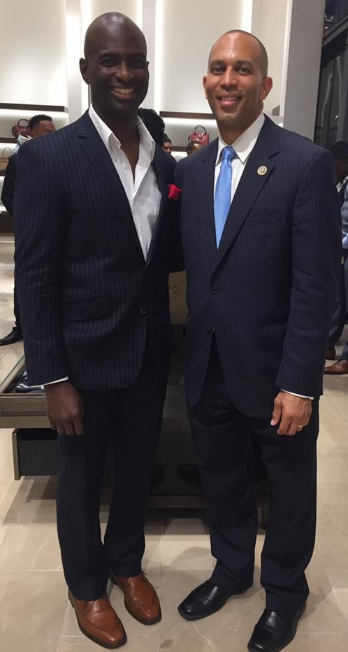 With Congressman Hakeem Jefferies of NY