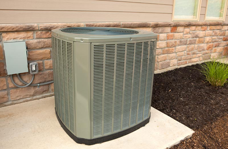 Outdoor unit of a high efficiency air conditioner
