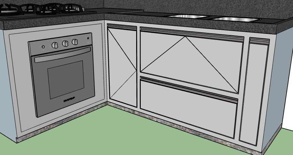 Projeto, armário de cozinha.