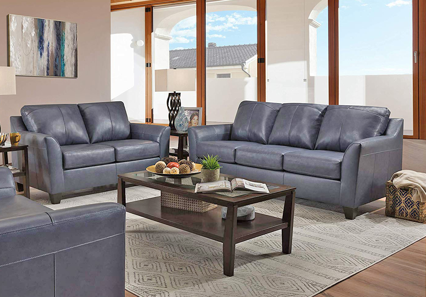 Lane 12029 Fog Sofa Set