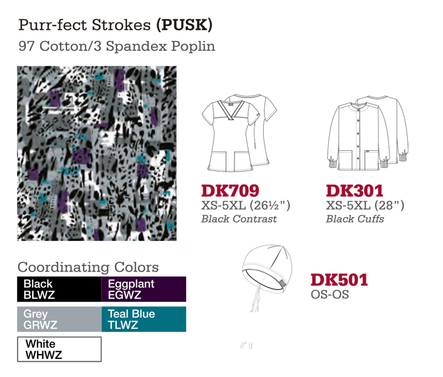 Purr-fect Strokes. DK709. DK301. DK501.