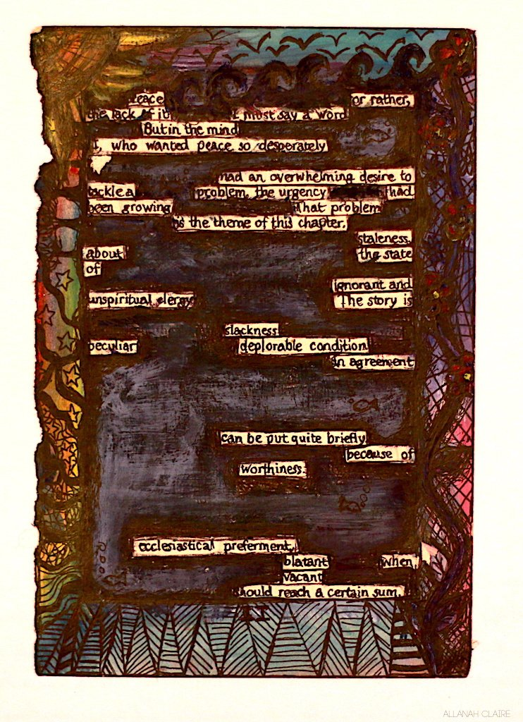 Altered book page.