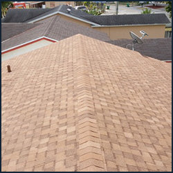 Light Brown Repaired Roof