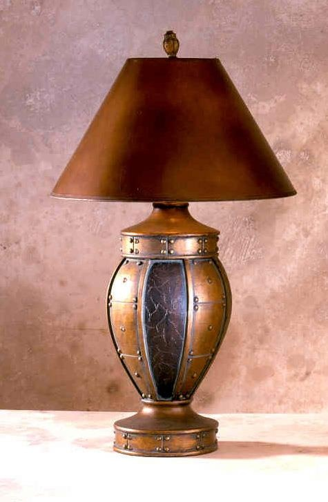 "BERN 6571 Copper & Burgundy Lamp $99.00 32.5"" High"