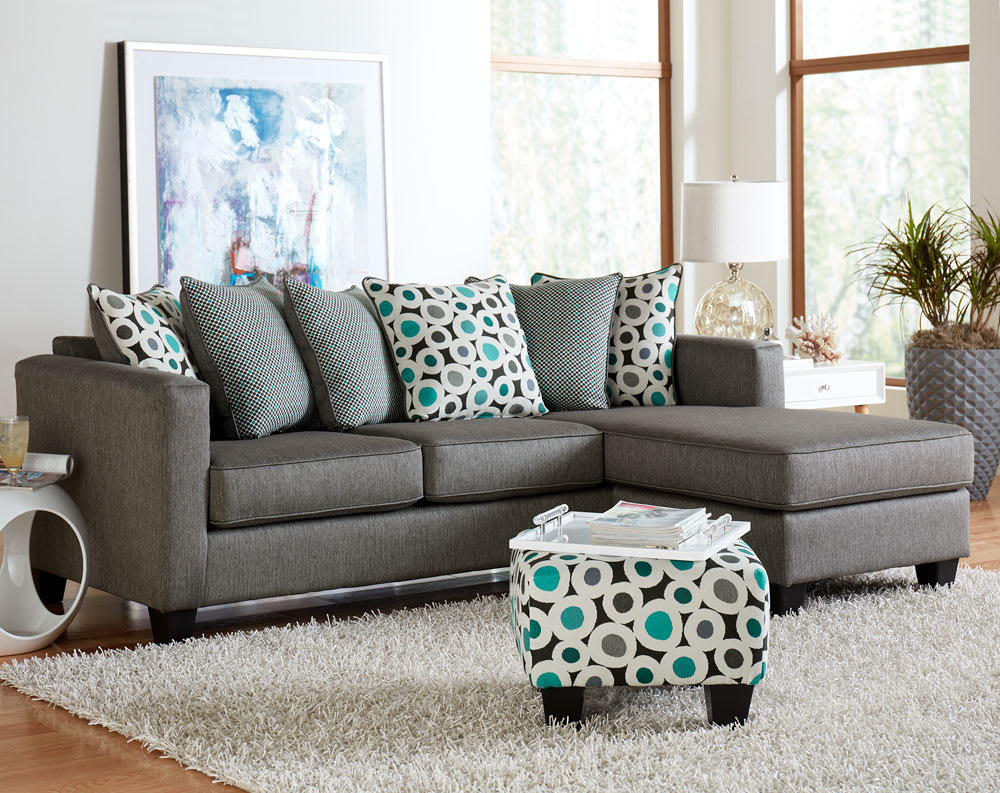 7810 Reversible Chaise Sectional Booyah Silver