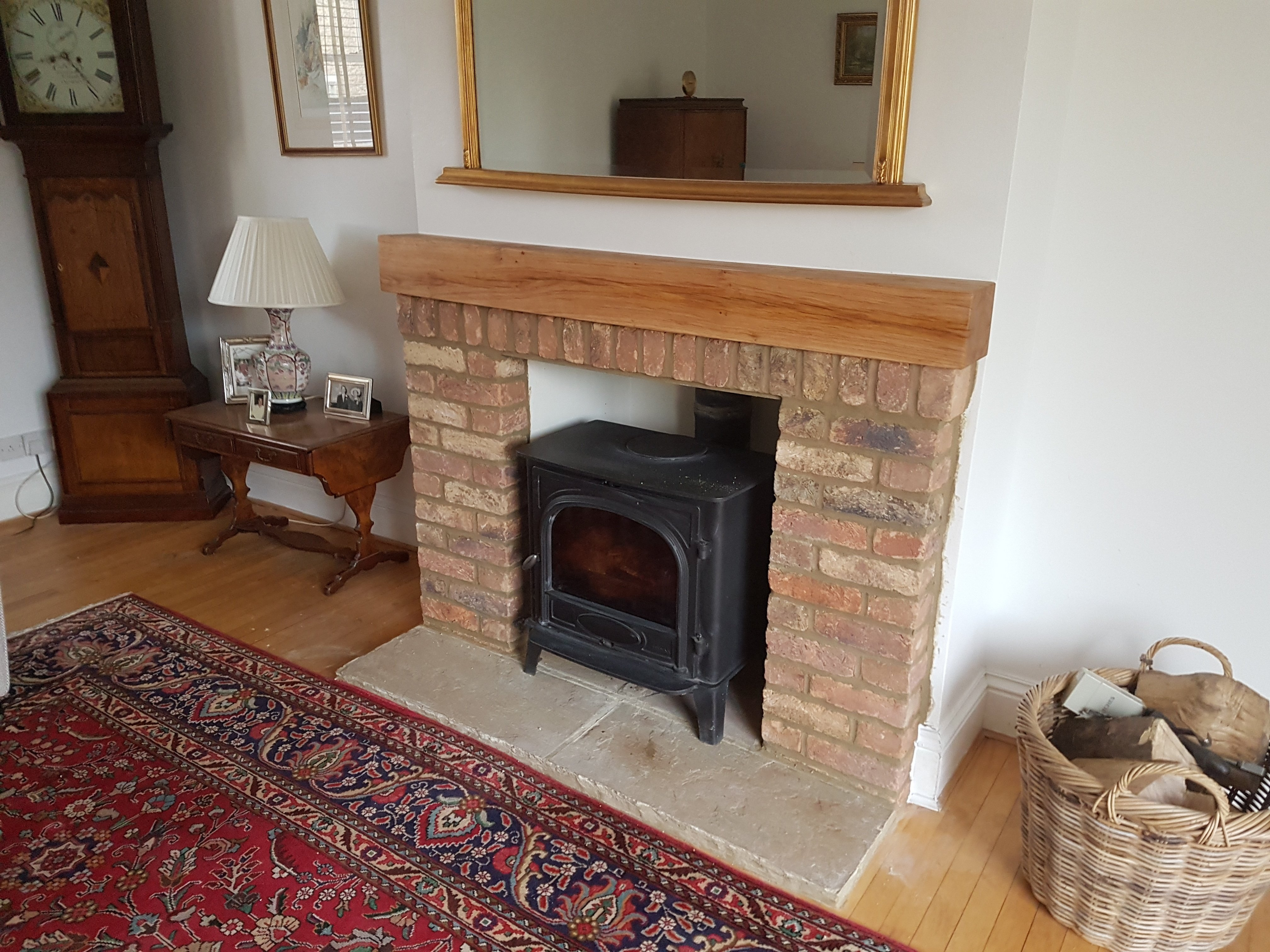 Brick Built Fireplace