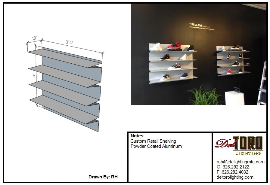 Creative Recreation LA Pop Up - Custom Shelving