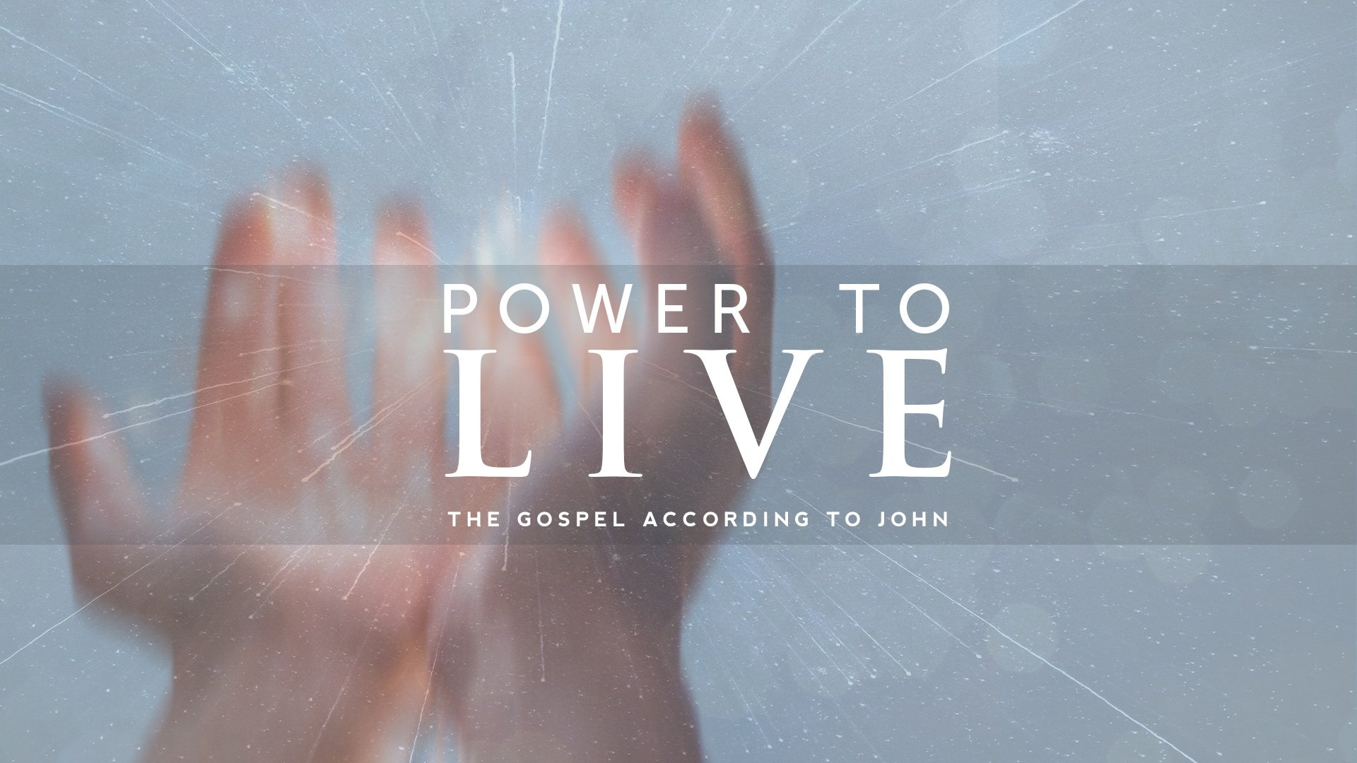 Our latest series in the Gospel of John, Sundays at 10:15 AM
