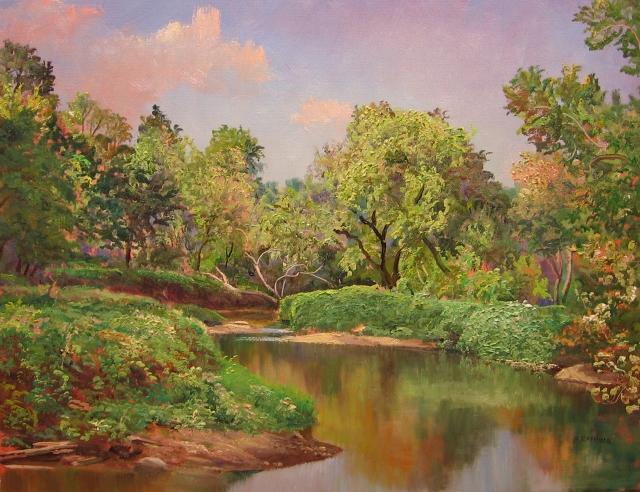 44. Seneca Creek, 14x18 oil on canvas