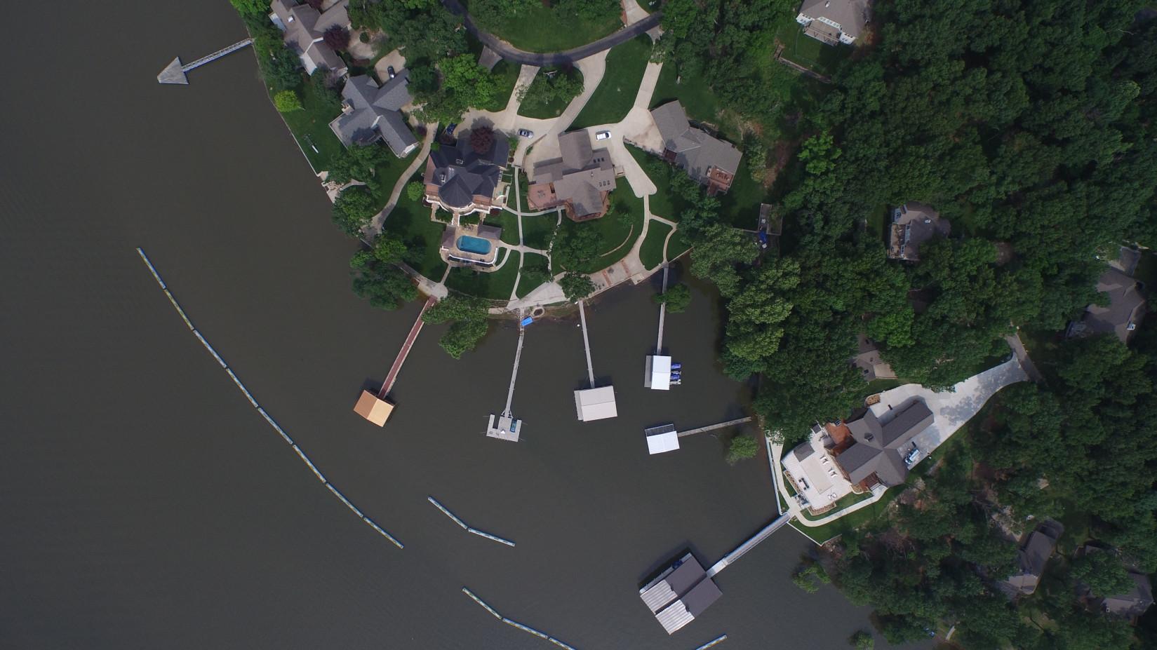 Custom Breakwater (Aerial View)