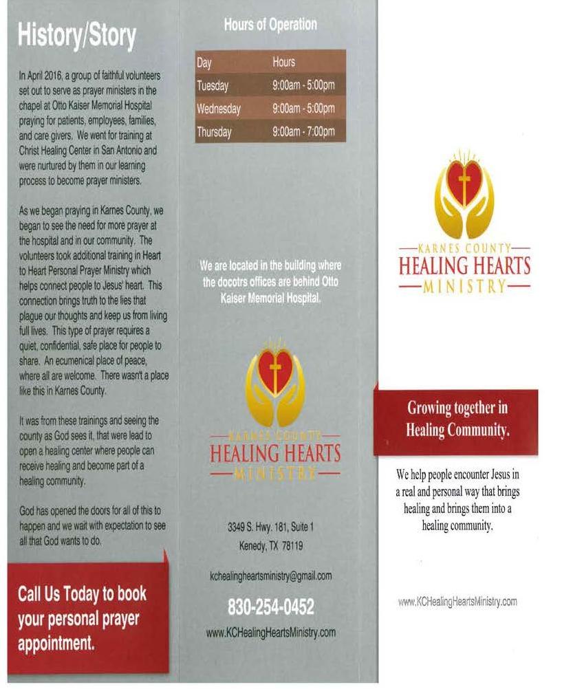 Karnes County Healing Hearts Ministry