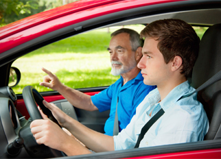 Instructor Supervising Student Driver||||