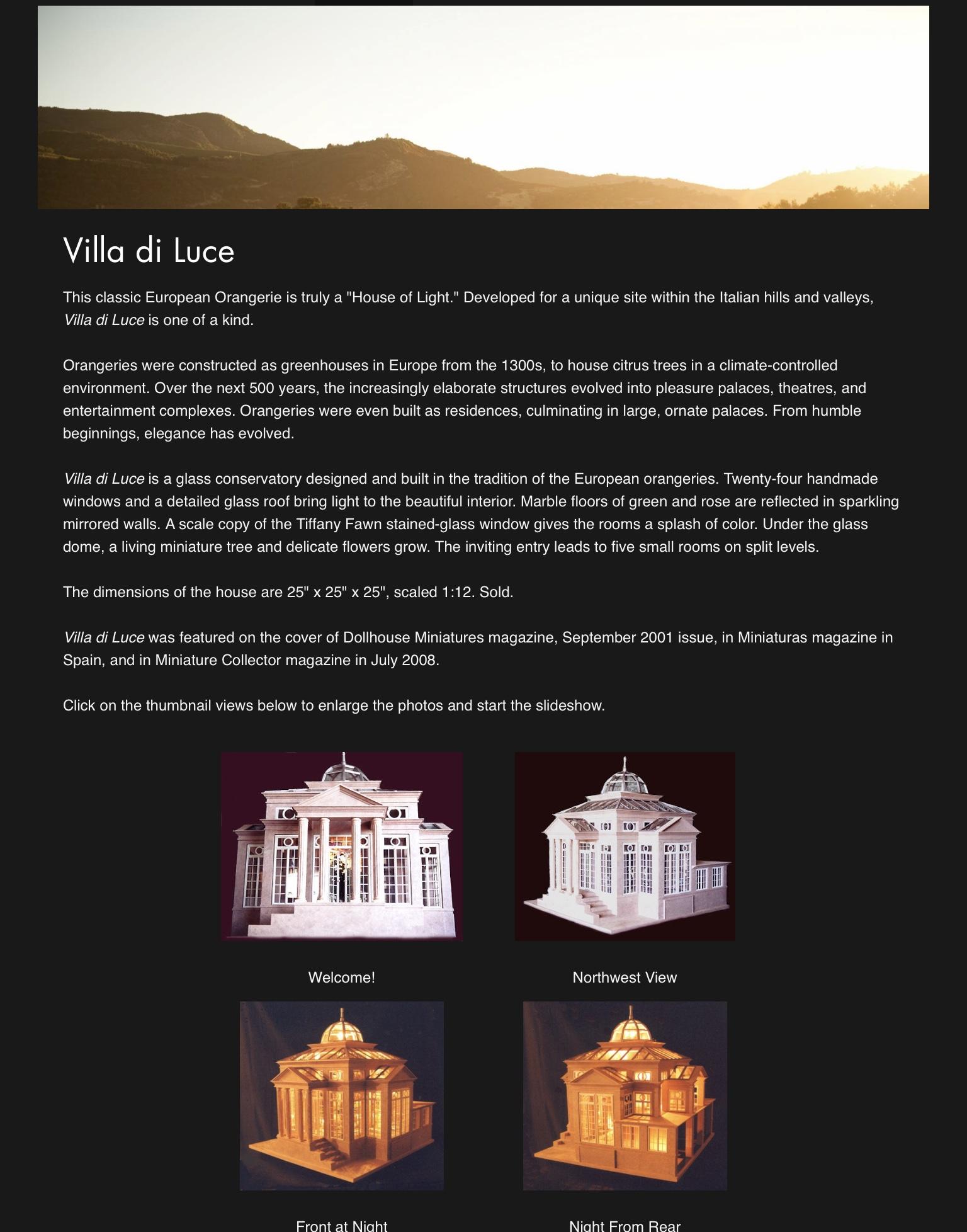 Villa di Luce — 2001