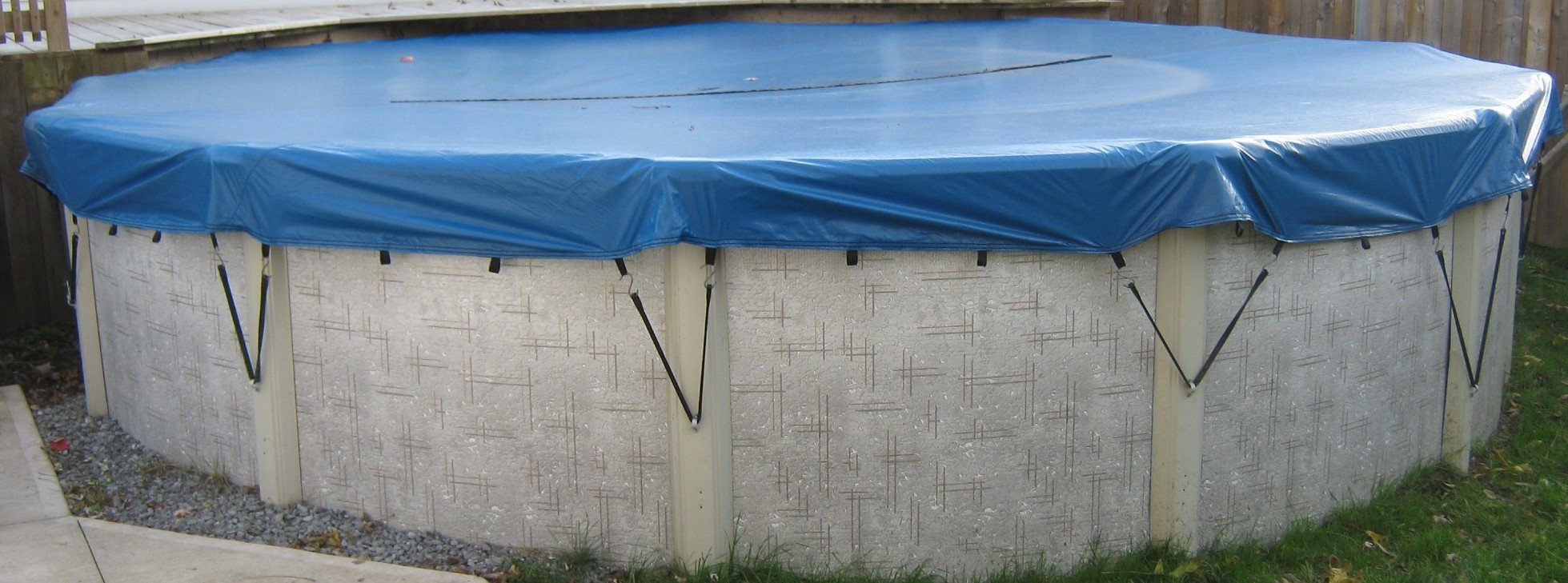 Arctic blue covers above ground eliminator for Swimming pool winter cover anchors