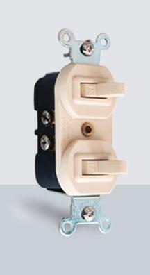 004 Interruptor doble p/Placa