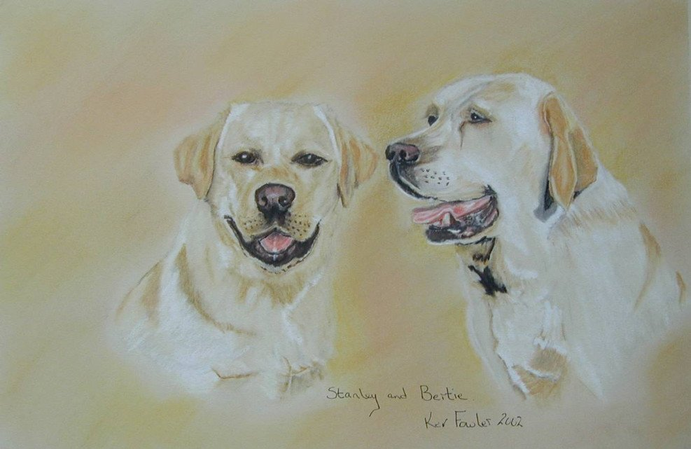 Stanley and Bertie ........ Pastel Pencils SOLD