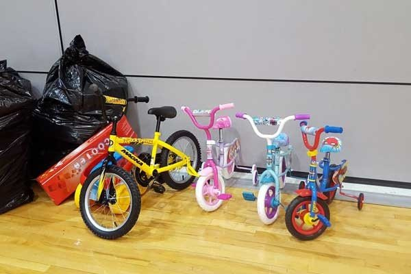 Bicycles and Toys for the Children