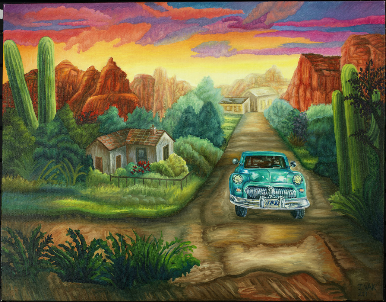 Desert Drive 28x36 Original Oil $2850 2012