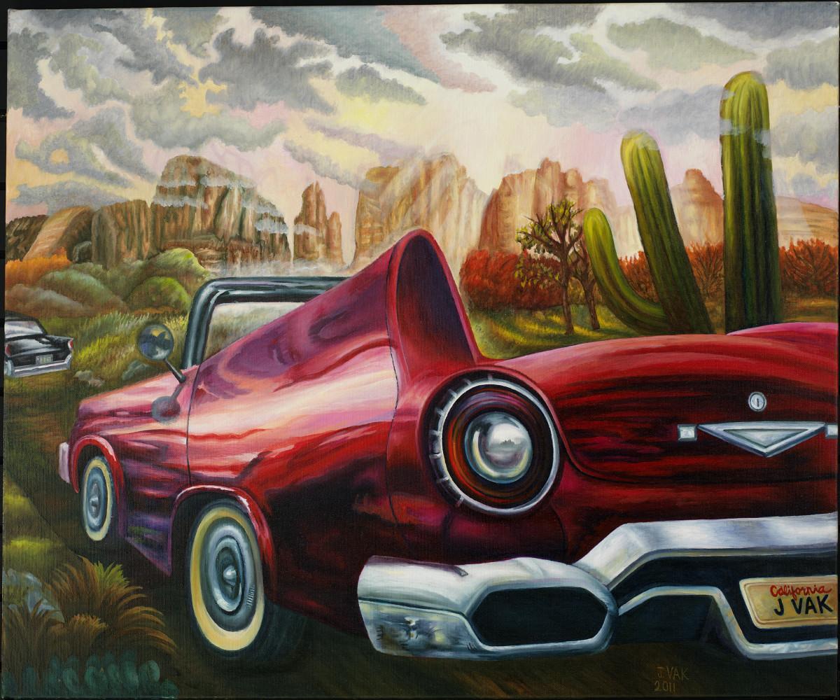 '57 Ford Thunderbird 30x36 Original Oil $3850 2012