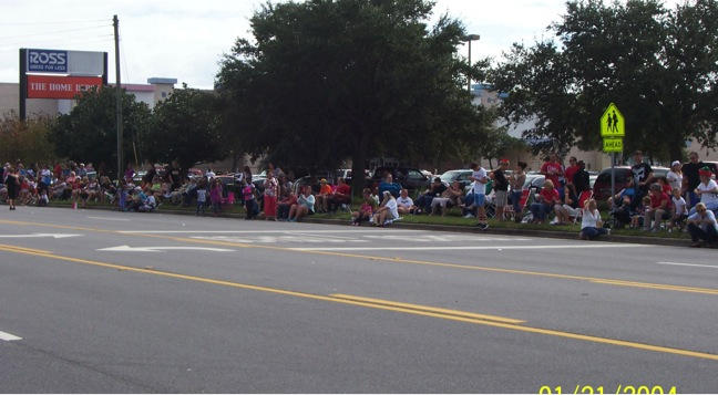 Merritt Island Christmas Parade - Many Observers Just Waiting to Hear the Gospel!