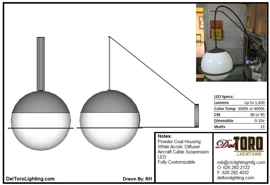 715W-Dual Arm Globe Wall Sconce