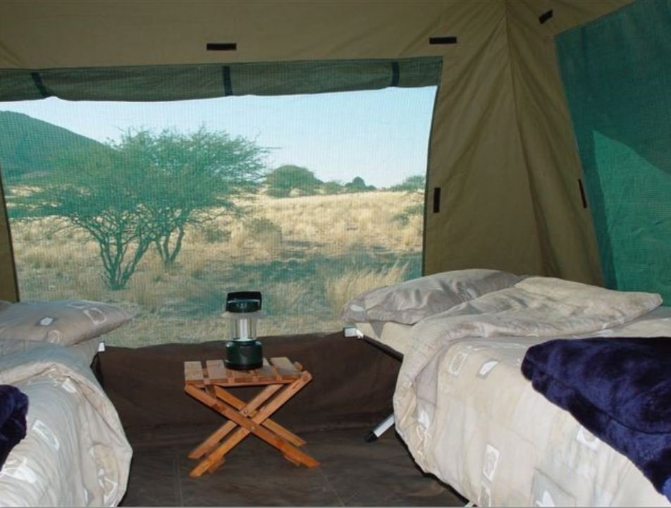Mobile Safari (Different than a permanent tent camp experience),  Inside View