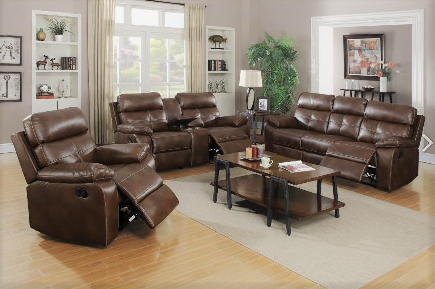 Damiano Living Room Set 601691 Gliding Recliner