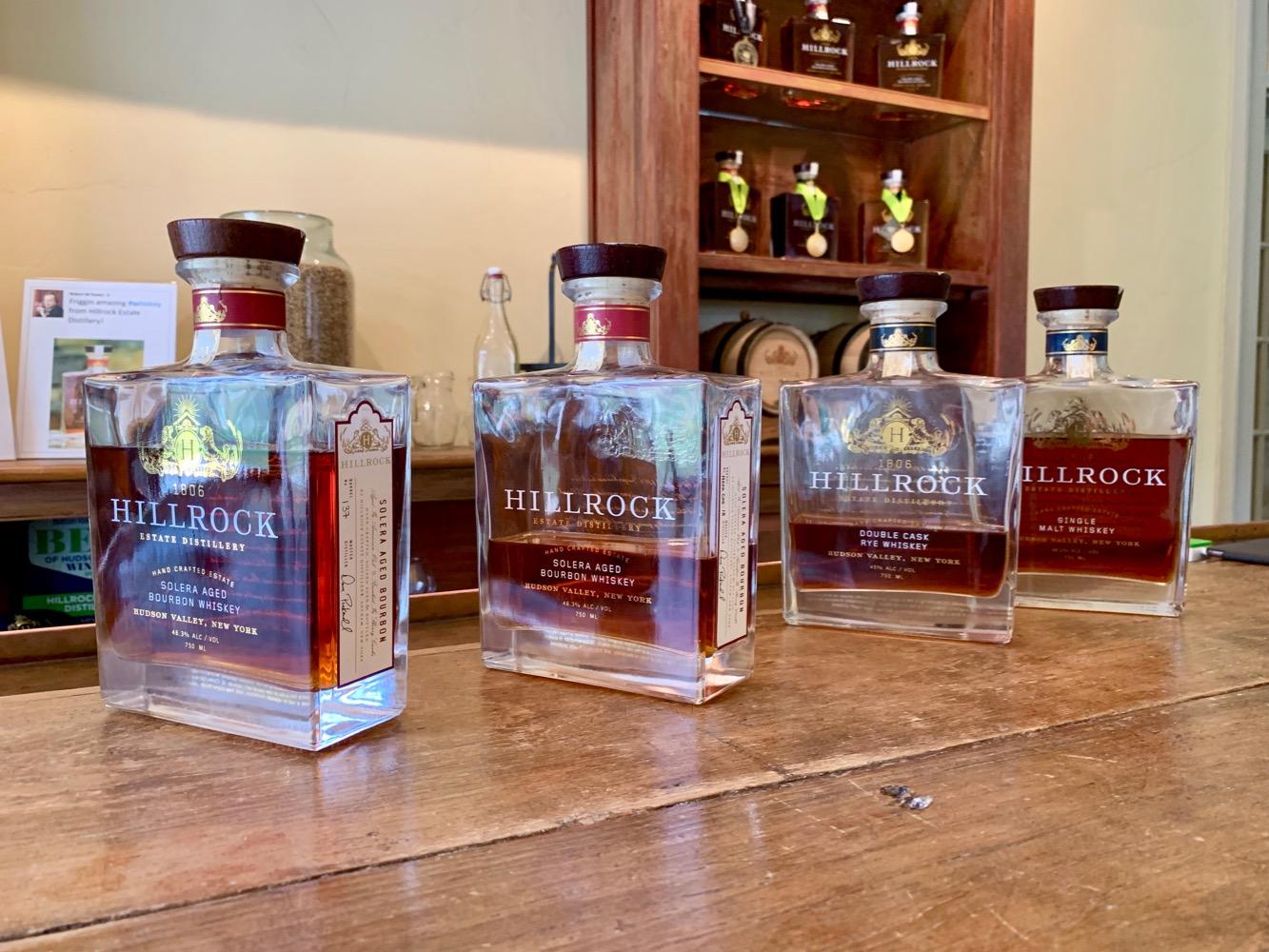 Hillrock Estate Distillery Whiskeys