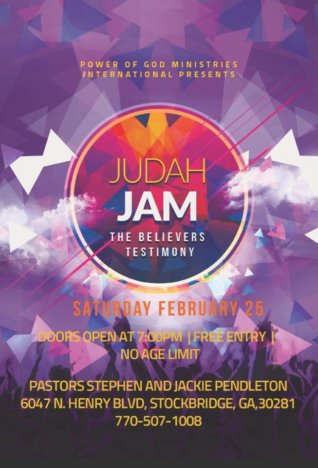 Judah Jam is a free event! Bring a friend.