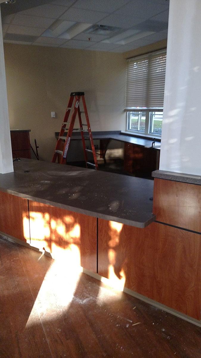 Office Countertop Installation