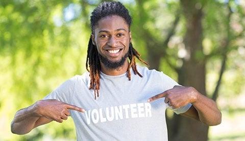 Happy Volunteer