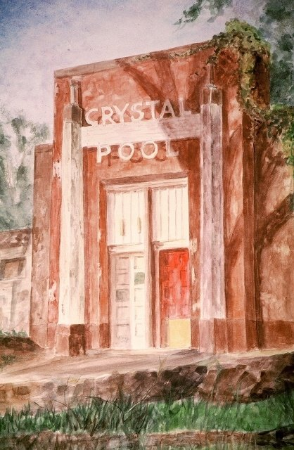 "Grace Peterson, Crystal Pool, 21 1/2"" x 13"" WC SOLD"