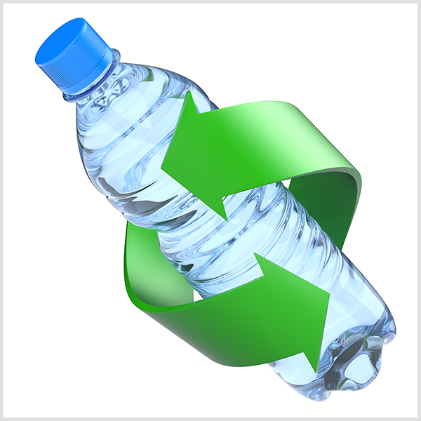 Plastic water bottle||||