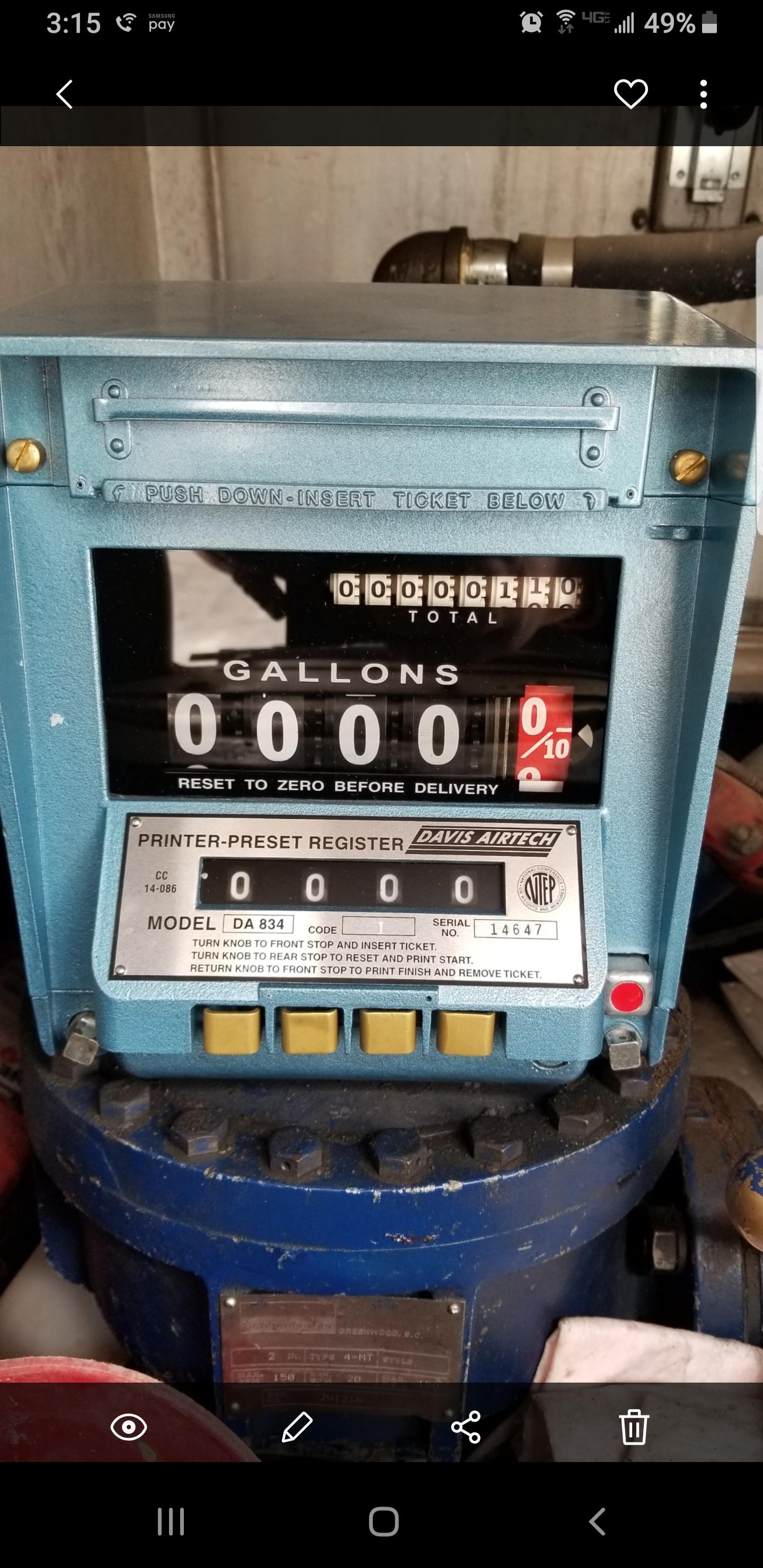 Fuel Pump Meter