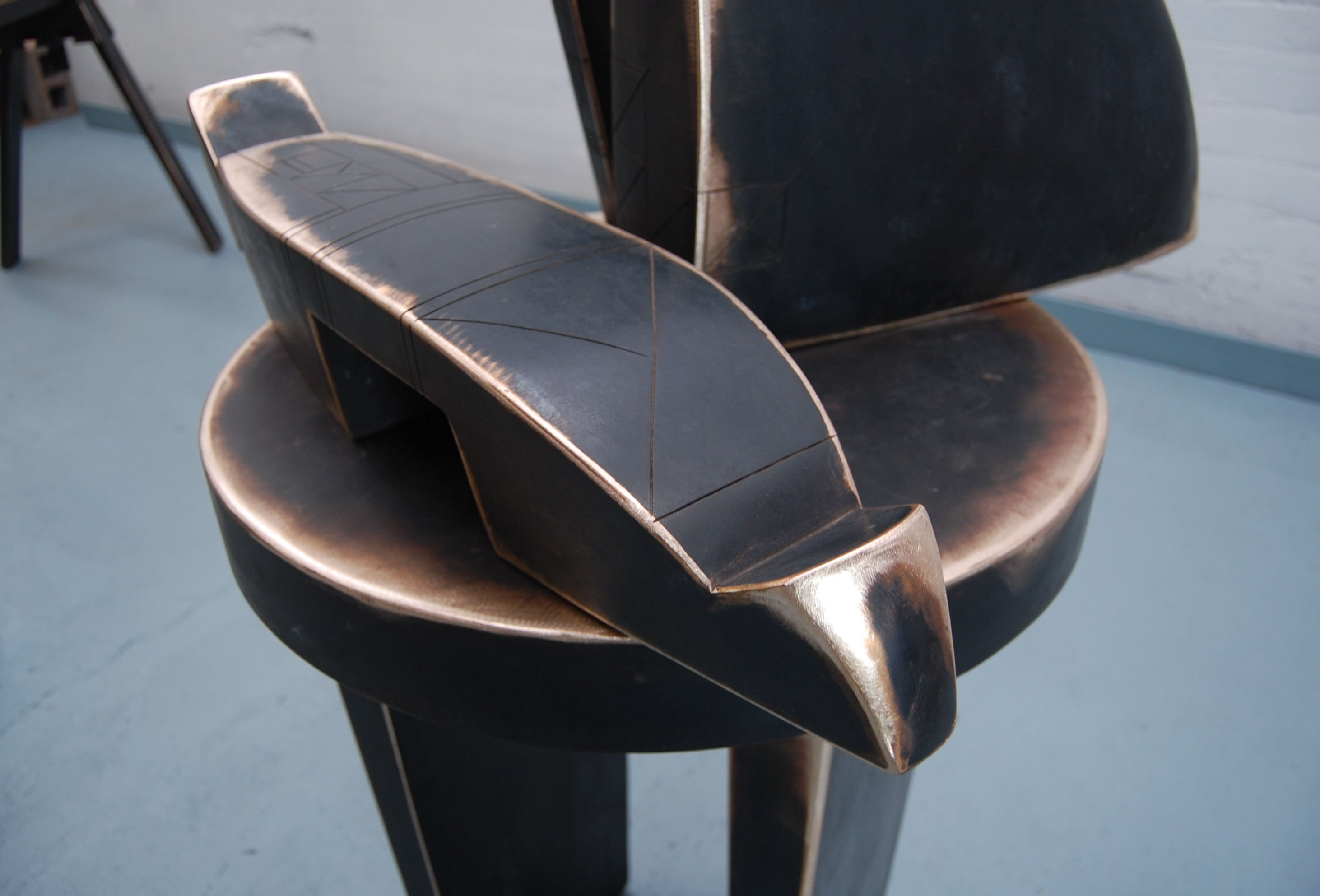 "Still Life for Abbey (Detail) - 1985, Fabricated Bronze with Patina, 36"" x 34"" x 78"""