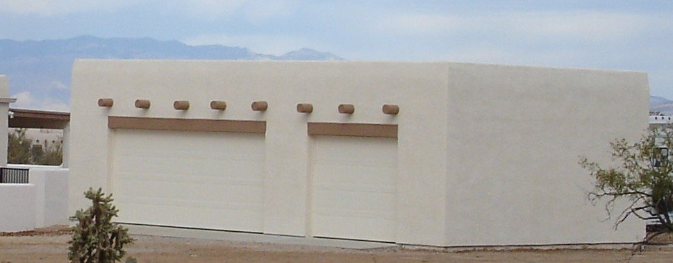 Stucco Garage