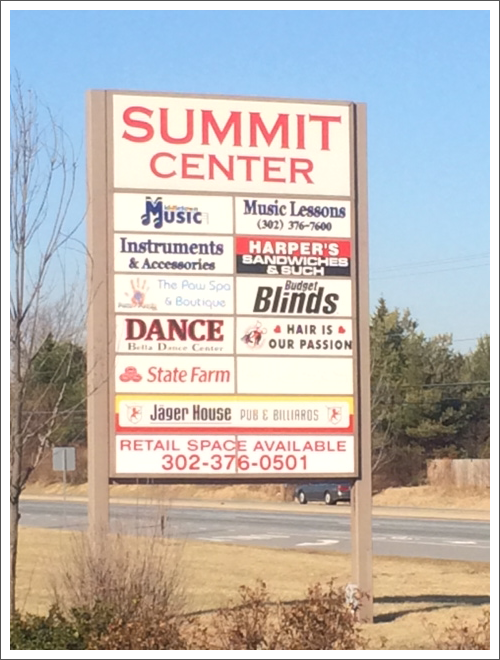 Summit center signboard||||