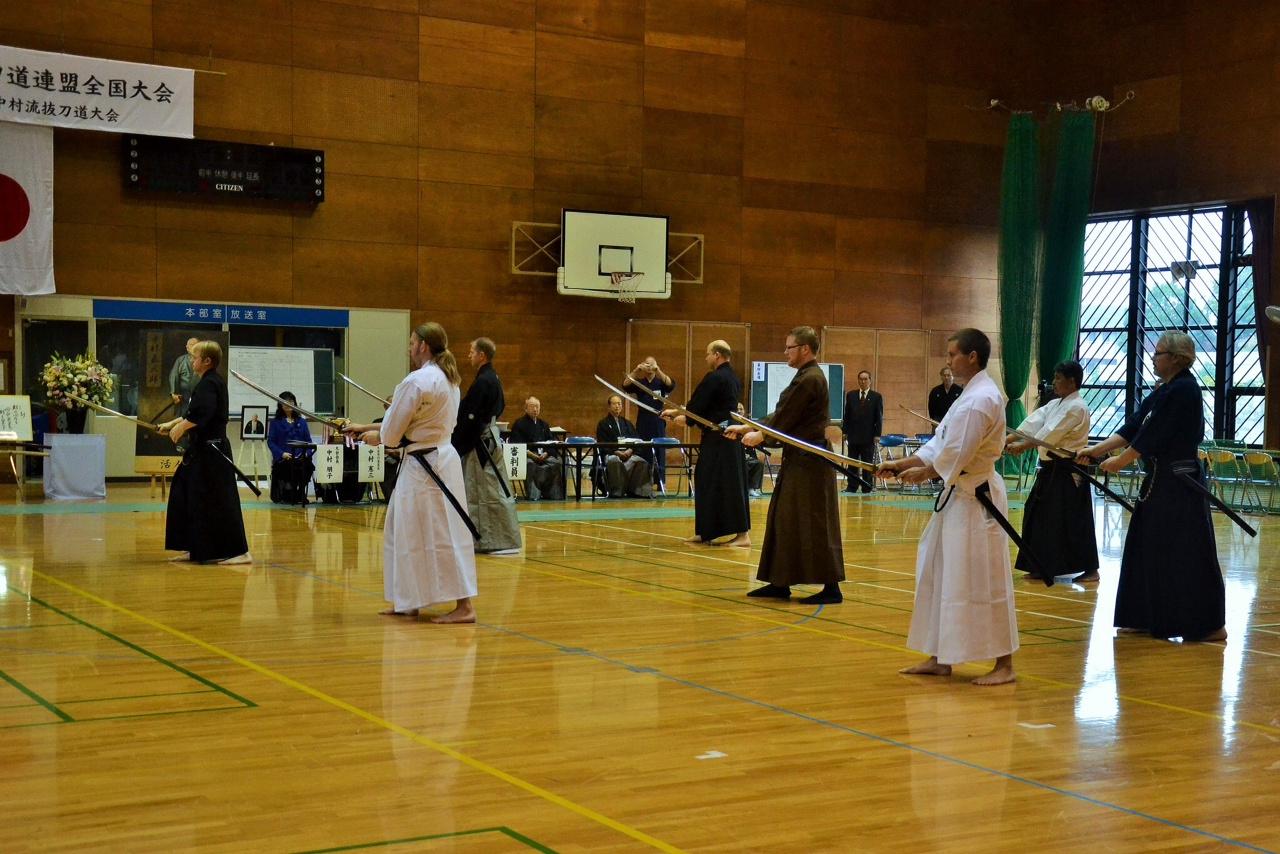 Toyama Ryu Embu - participants from Australia, D.C,  Lancaster, San Diego, UK and Kenshinkan Dojo.
