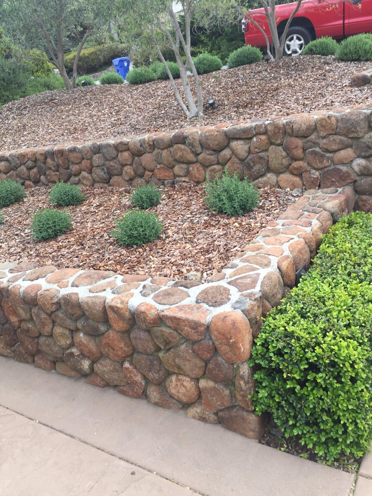 Stone planters Napa, CA