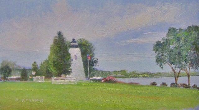 5. Havre de Grace Concord Point Lighthouse, 4x7 oil on panel