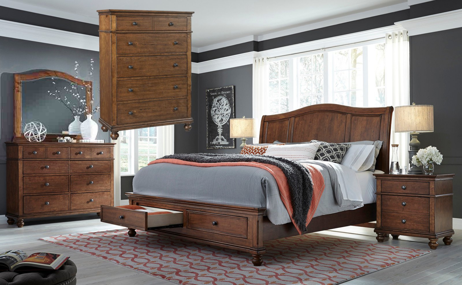 I07WBR Aspenhome Bedroom Set