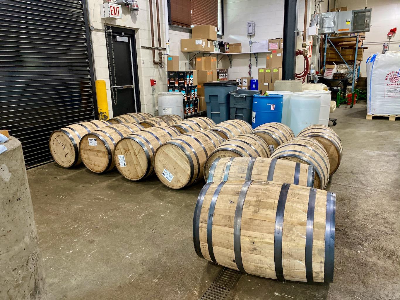 Barreling Area - New Riff Distilling Distillery