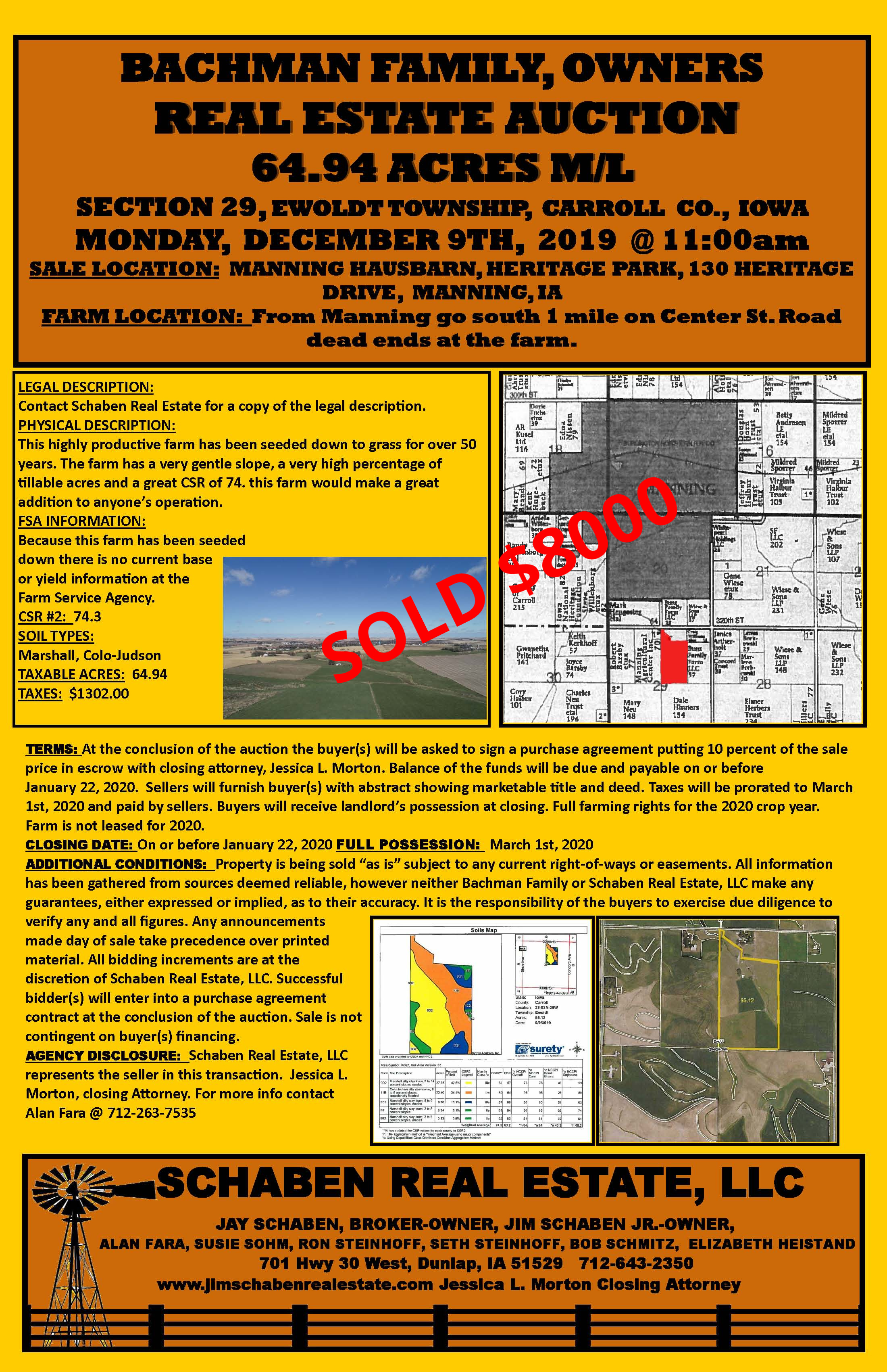 Bachman Family Land Auction